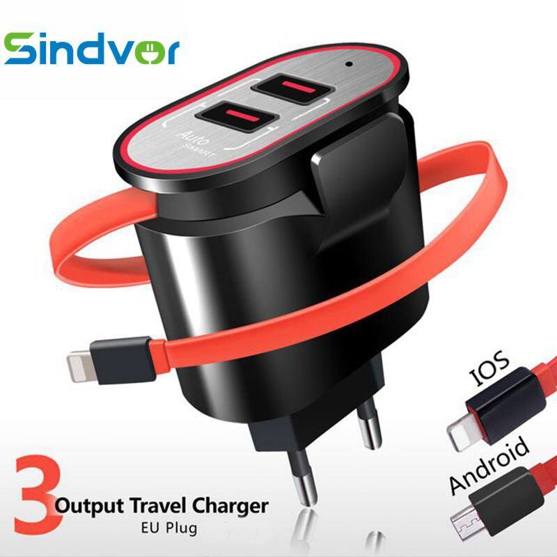 Sindvor 5V 3.1A 2 Ports USB Charger withs