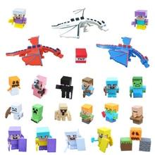 2018 Minecraft Eraser Toy Building Blocks Rubber Doll DIY Детские образовательные игрушки Eraser Creeper Study Канцелярские товары