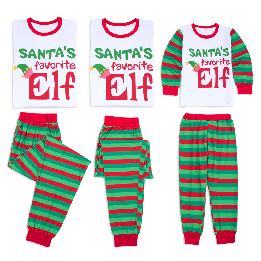New Family Matching Christmas Pjs Outfits Kids Adult Pajamas Set Striped  Sleepwear Nightwear Photography Prop Costume CA497-in Matching Family  Outfits from ... fa6a955df