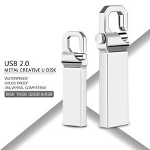 USB Flash Drive 2.0 Pen Drive 16GB 32GB 64GB 8GB 128GB Pendrive USB Stick Metal Flash Memory Stick High Speed 32 16 64 128 GB