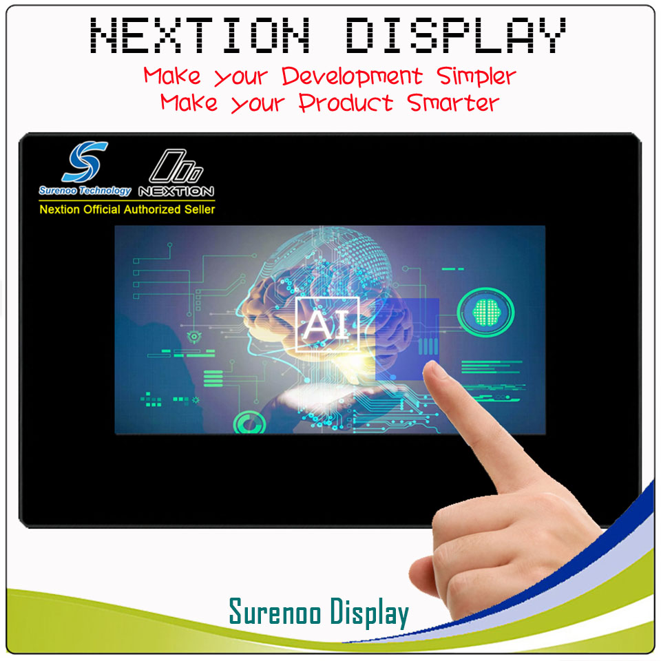 7.0 Nextion Enhanced HMI Intelligent USART UART Serial TFT LCD Module Display Resistive Capacitive Touch Panel w/ Enclosure