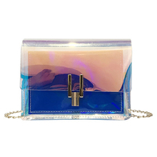 купить AHCLY Women Laser Shoulder Crossbody Bags PVC Jelly Clear Bag Fashion Ladies Beach Handbags Clutch Female zipper Messenger Bag онлайн