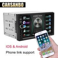 Car Radio HD 7 7018B Touch Screen Car Audio Bluetooth Rear View Camera MP5 Multimidio Player 2 din Cassette Recorder