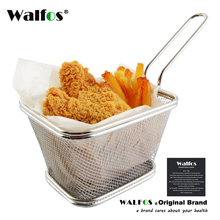 1P Stainless Steel Chips Mini frying Basket Strainer Fryer kitchen Cooking Chef Colander Tool French Fries