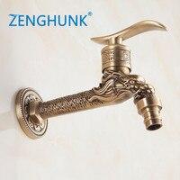 Decorative Outdoor Faucet Garden Bibcocks Tap Bathroom Washing Machine Faucet/mop Faucet Antique Bronze Small Faucet