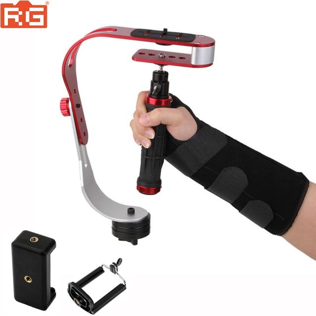 Mini stabilisateur de poche vidéo steeryam pour appareil photo numérique HDSLR DSLR caméscope DV téléphone portable + gants livraison gratuite