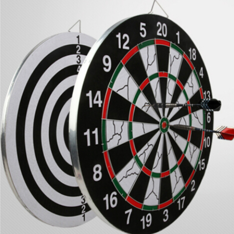 15 Inch Professional Dart Board Set Darts With 6 Darts Needles For Free rowsfir dart board 6 darts set funny play dartboard soft head darts board game toy fun party accessories gambling new year gift