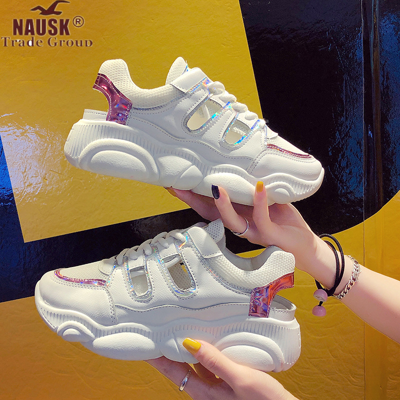 NAUSK Women Shoes 2019 Spring Fashion Vintage Women Sneakers Breathable Platform Casual Dad Shoes Women Black Chunky SneakersNAUSK Women Shoes 2019 Spring Fashion Vintage Women Sneakers Breathable Platform Casual Dad Shoes Women Black Chunky Sneakers