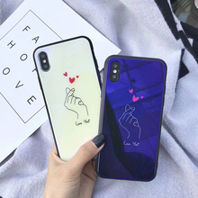 Cyato Love You Glass Case For iPhone X 10 6s Tempered glass Cover Bumper On The Apple 6 7 8 TPU Silicone Shell
