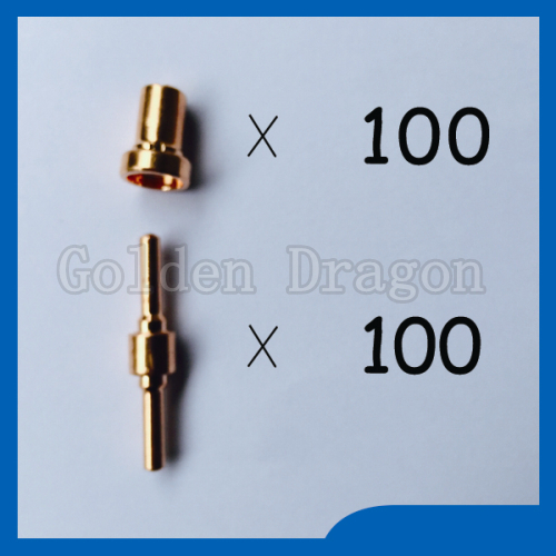 ФОТО Free shipping 18205L Plasma Electrodes Extended & 18866L Plasma Tip Nozzles Extended Fit PT31 LG40 Plasma Cutter Consumables K