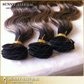 Brazilian human hair extensions virgin hair body wave extension 6A top grade piano hair weave colored 1b/27 1pcs lot wholesale