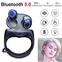 HM50 TWS Bluetooth Wireless Earbuds EarPhones HiFi Bluetooth 5.0 Earphones Portable Smart Wristband Wireless Headset In ear