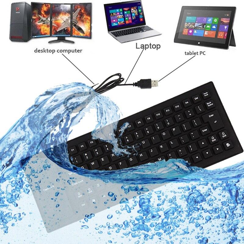 Russian/English Version Keyboard Waterproof 85 Keys folding Portable Soft Flexible Silicone Gaming Keyboard For Laptop Computer russian keyboard keys letters sticker black