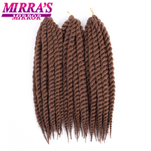 Mirra's Mirror 12 18 22 Гавана твист крючком косички синтетические косички волосы для наращивания Mambo твист Высокая температура волокна волос