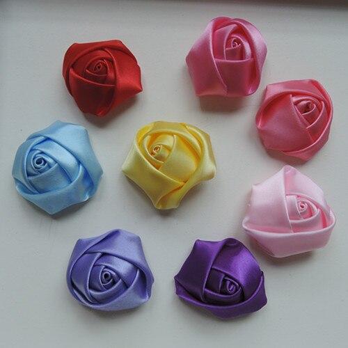 DIY цветок ручной работы одежда аксессуары лента розы текстура волос материал