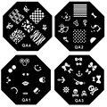 5x Nail Template Stamping Plates Nail Art Template Print Nail Image Stamper Steel Plates Stencil Beauty Nail Polish Tools
