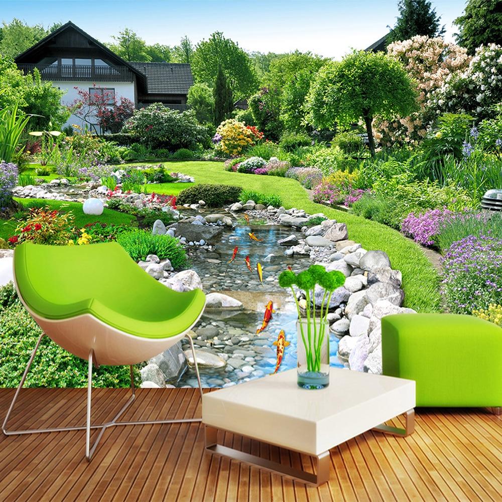 Home Design 3d Outdoor Garden On The App Store: Custom Photo Wallpaper 3D Nature Landscape Large Mural