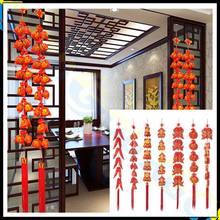 Весенний фестиваль китайские узлы петарды красный перец струнные подвески орнамент вечерние оформление комнаты Chinease Новогоднее украшение