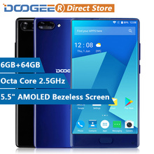 "DOOGEE MIX 4G Smartphone 5.5"" AMOLED HD Helio P25 Octa Core 2.5GHz Android 7.0 6GB+64GB 16MP 3380mAh Fingerprint ID Mobile Phone(China)"