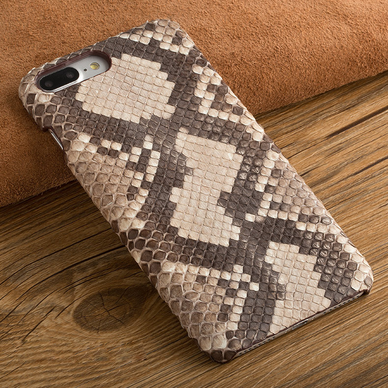 Natural Python Skin Back Case For iPhone 6 6s Plus High Quality Luxury Real Snake Genuine Leather Rear Cover Moblie Phone Bag