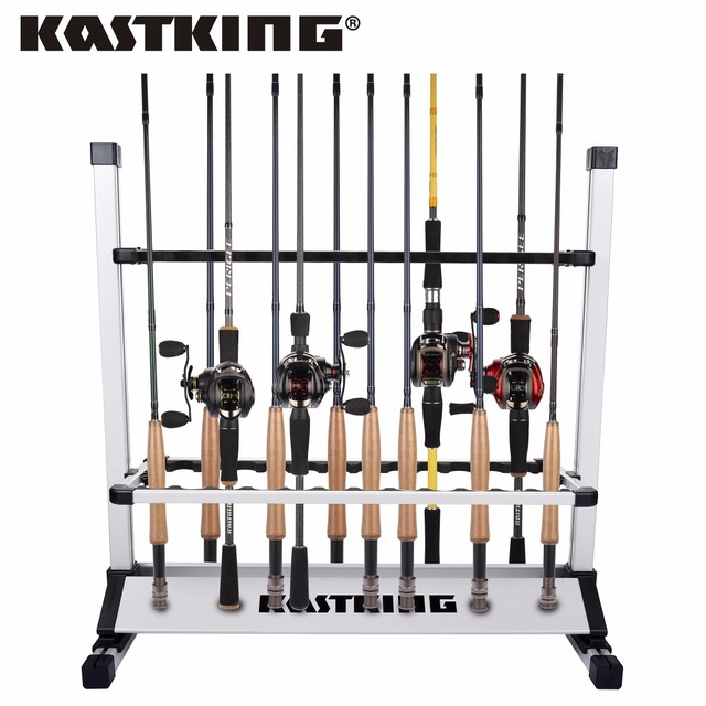 "KastKing New Fishing Rod Rack Holder Dimension 28.5""x29""x13"" Capacity 24pcs All types of Fishing Rod Combo"
