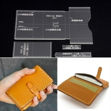 4Pcs Acrylic Clear Card Bag Wallet Messager Stencil Template Leather Craft