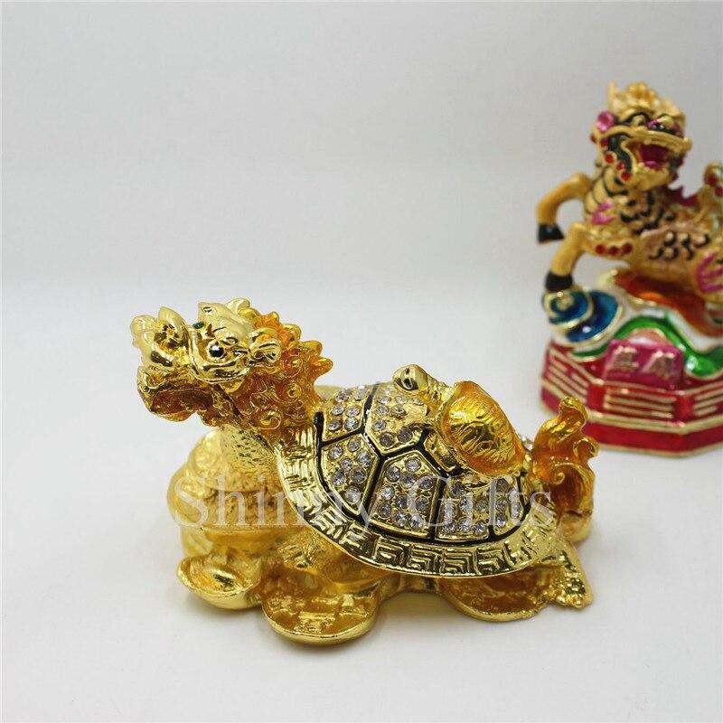 Feng Shui dračí želvy krabička s kameny stůl dekorativní dárky
