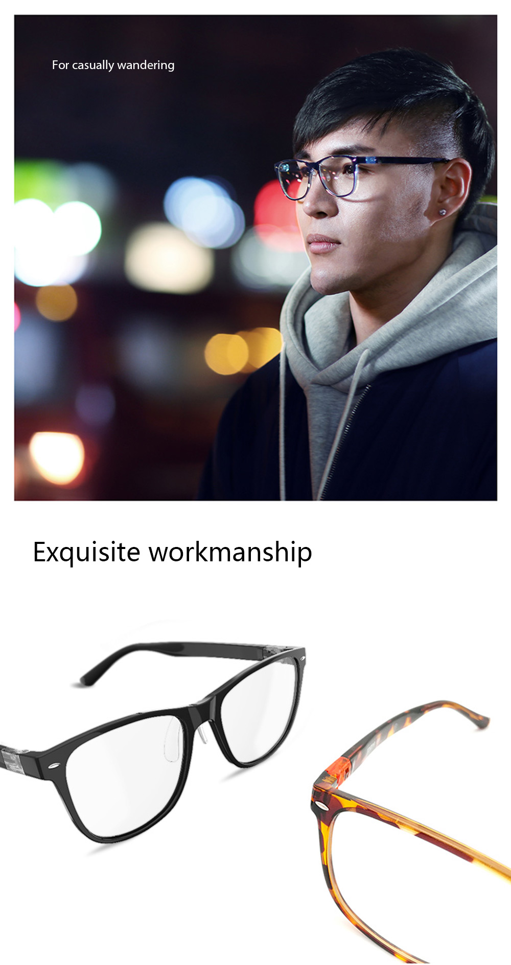 Original Xiaomi B1 ROIDMI Detachable Anti-blue-rays Protective Glasses Eye Protector For Man Woman Play Phone/Computer/Games
