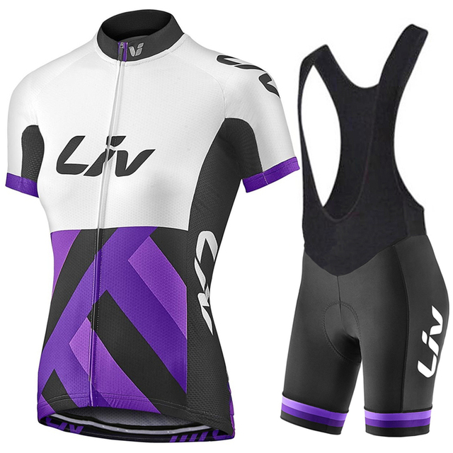 2017 new team liv cycling Jersey cycling clothing set Roupa Ciclismo 100% Polyester  Cycle jerseys With Gel Pad Shorts pants a29baf3b2