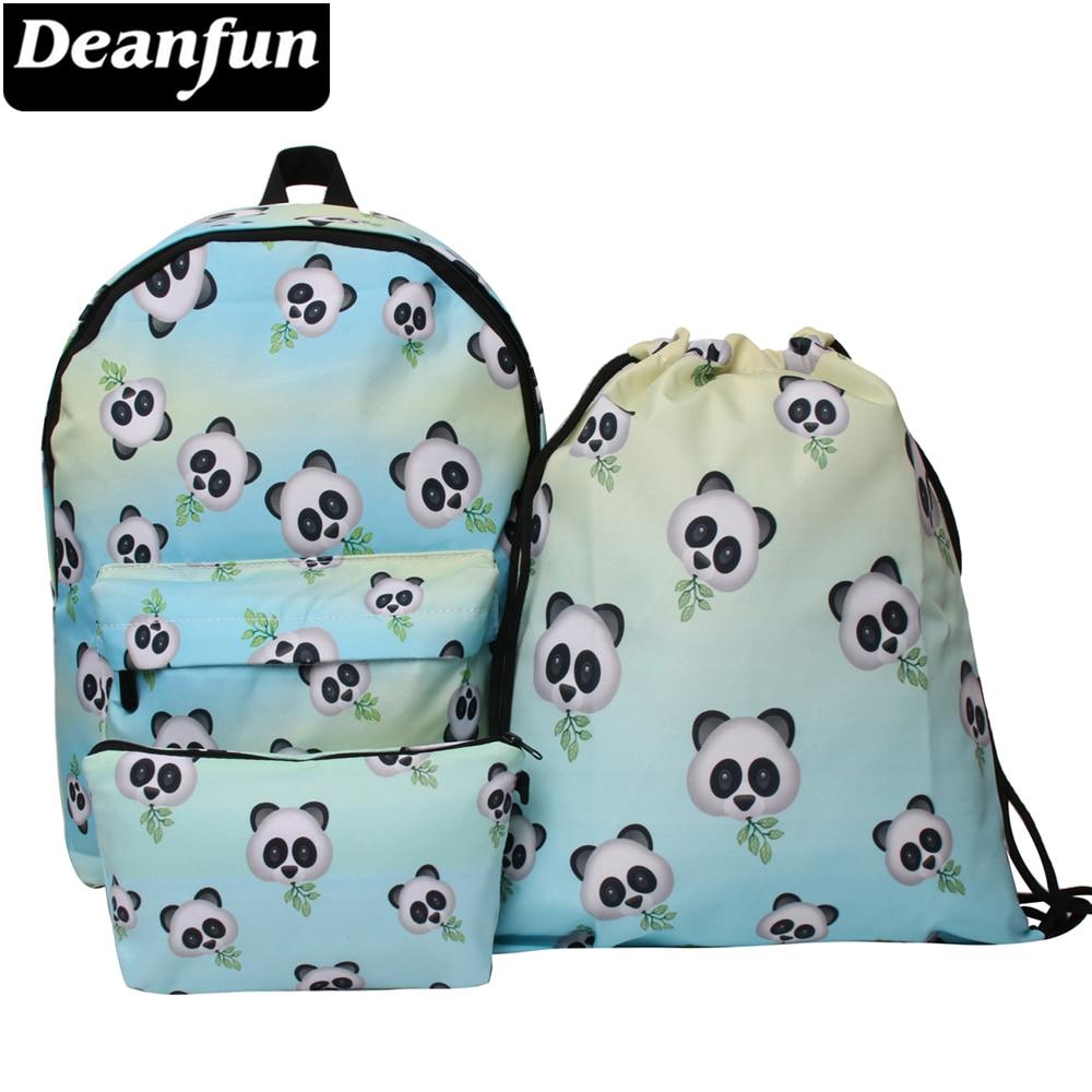 Deanfun Waterdichte School Rugzakken Vrouwen Panda Boekentas Leuke Schooltas Voor Tiener Meisjes Kawaii Knapzak Maar Toch Niet Vulgair