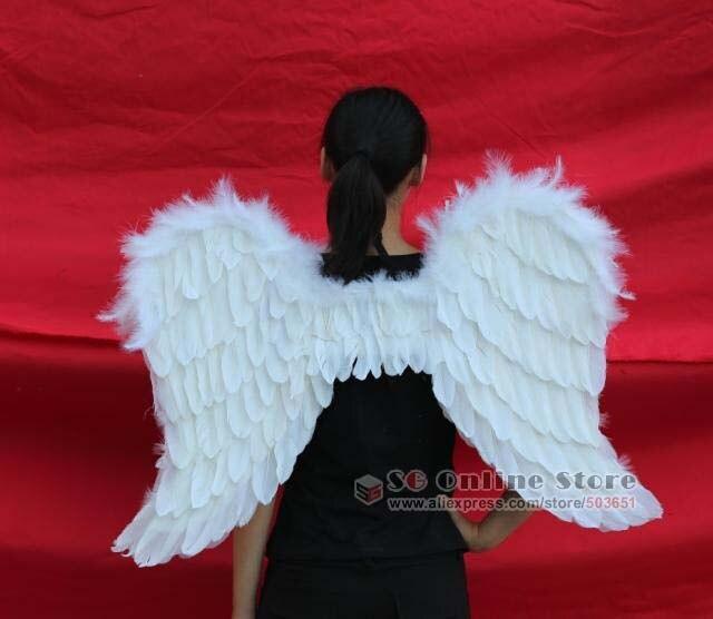 EMS envío gratis bridesmaids hermoso adorno decoración accesorio alas de Ángel Blanco accesorios de boda puro hecho a mano