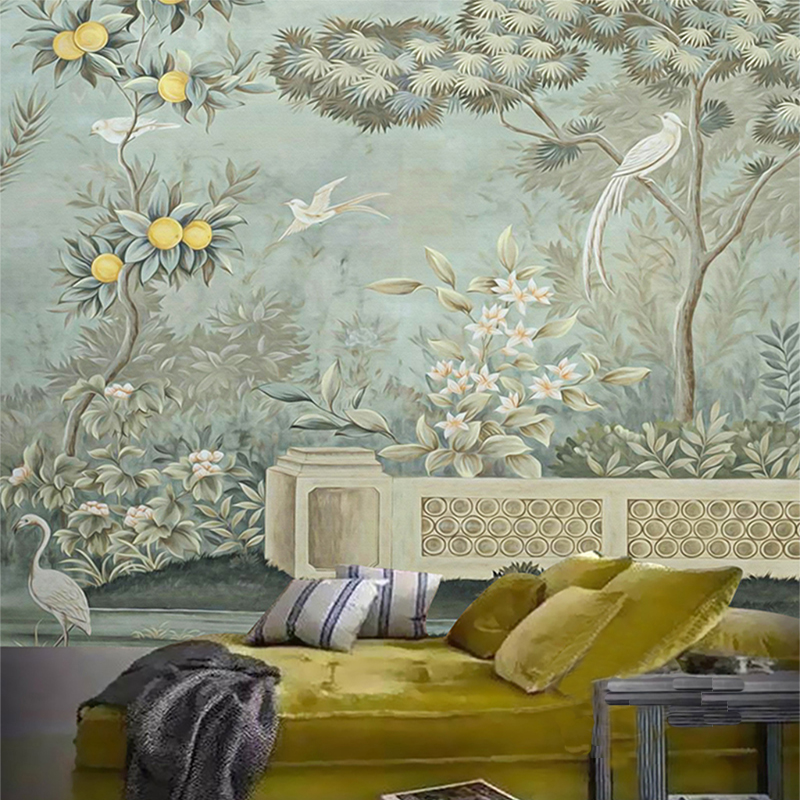 Custom Any Size European Flower And Bird Painting Study Living Room Sofa TV Background Wall Mural Decor Wallpaper For Walls 3D book knowledge power channel creative 3d large mural wallpaper 3d bedroom living room tv backdrop painting wallpaper