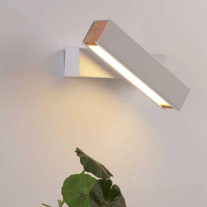 светодиодный настенный светильник 360 градусов вращение Регулируемая прикроватная лампа белый черный креативный наст