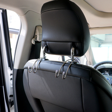 Convenience Car Hanger Holder Hook for Bag Purse 1 Pair Stainless Steel Car Seat Back Clips Auto Fastener Clip Concise Handrest