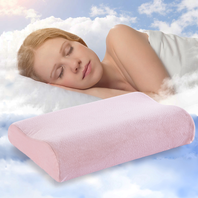 New design wave cushion orthopedic pillow memory foam orthopedic neck care pillows in bedding office plane hotel flocking pillow