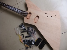 Free Shipping New Unfinish KL Electric Guitar Come With All Hardware In Natural Wooden 110226
