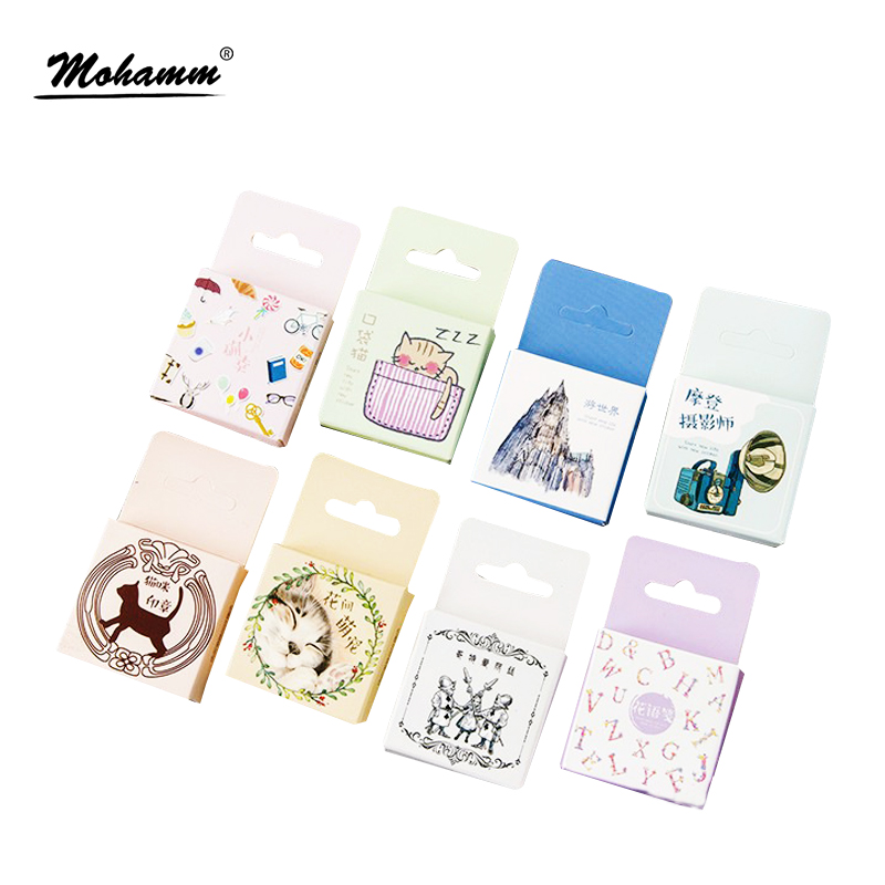 45pcs/lot Cute Movable Travel Japanese Mini Paper Stickers Decoration Diy Diary Scrapbooking Seal Sticker Kawaii Stationery 45pcs box cute animal crystal ball mini paper decoration stickers diy diary scrapbooking seal sticker stationery school supplies