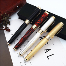 JINHAO new style fountain pen Luxury gift metal ink pen Beautiful gift box packaging gullor elegant fountain pen jinhao 8802 shell with gift