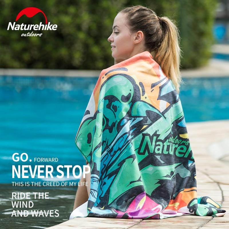 все цены на Naturehike Microfiber Thermal Transfer Portable Quick Drying Sand Free Beach Pool Swimming Towel Yoga Poncho