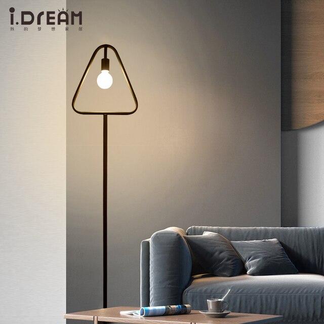 Moderne Stehleuchte Holz Eisen E27 Boden Lampe Hotel Nachttischlampen Wohnzimmer  Dekoration Moderne Stehleuchte