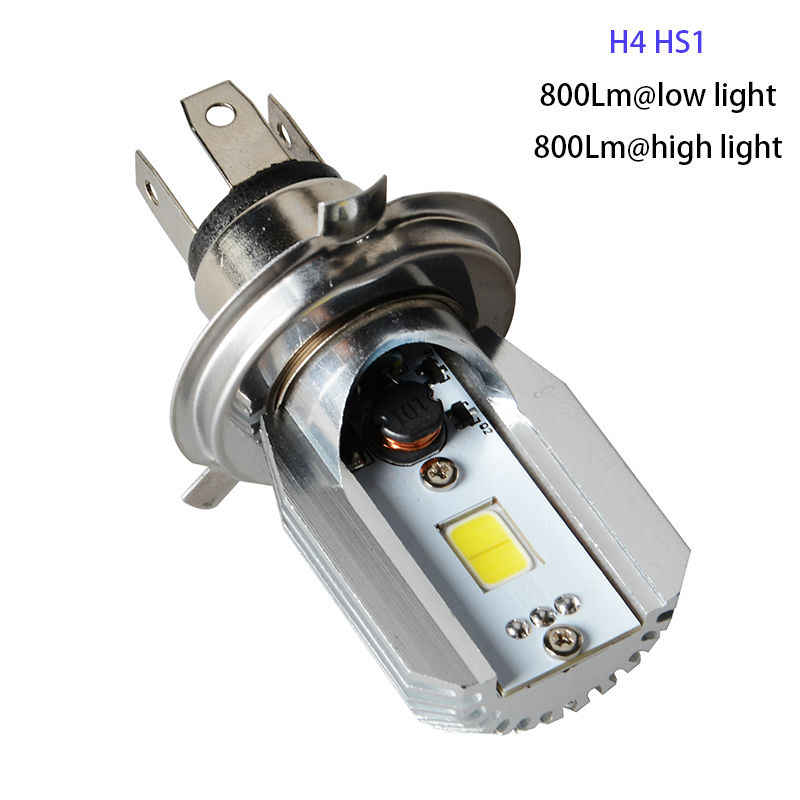 Plug Play 12v H4 HS1 LED Headlight Light Bulb Motorcycle Motorbike Headlamp Bulb Lamp Cool White Light Scooter ATV High Low 2017