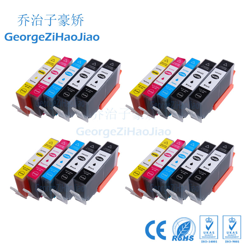 20 PCS 364XL ink cartridge Compatible HP 364 364XL HP364XL for 6510 6520 3070A 3522 4620