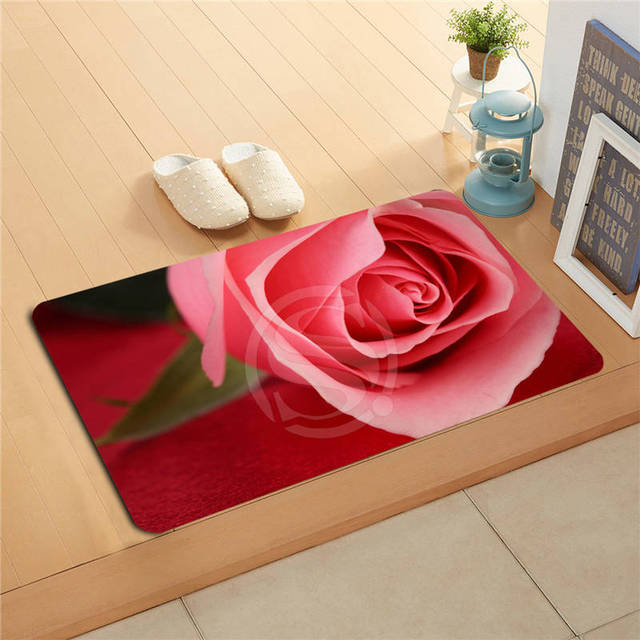 v&49 Custom The roses on the piano Doormat Home Decor Door mat Floor Mat Bath Mats foot pad L7.11&!x49