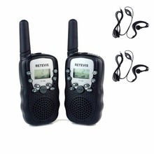 2 шт. Мини Walkie Talkie Радио Дети Retevis РТ-388 RT388 0.5 Вт UHF462-467MHz НАМ Частотный Рация + 2 шт. наушник A7027