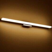 Более длинный светодиодный зеркальный светильник, современный косметический акриловый настенный светильник, водонепроницаемый светильник для ванной комнаты