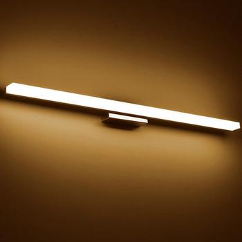 Już lampa led nad lustro AC90-260V nowoczesne kosmetyczne akrylowa lampa ścienna oświetlenie łazienki wodoodporna tanie i dobre opinie Kinkiety QLTEG Shadeless W górę iw dół Galwanicznie LED Wall Lamp STAINLESS STEEL Wakacyjny Pokrętło przełącznika