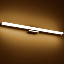 Longer LED Mirror Light AC90-260V Modern Cosmetic Acrylic Wall lamp Bathroom Lighting Waterproof(China)