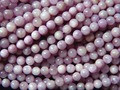 Free shipping (2 strands/set) natural strand Madagascar kunzite 6-6.5mm  smooth round charm gem stone  for jewelry making