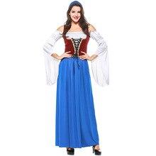 Umorden German Bavarian Oktoberfest Costume Disfraces Women Bar Club Beer Maid Waiter Cosplay Fancy Long Dress