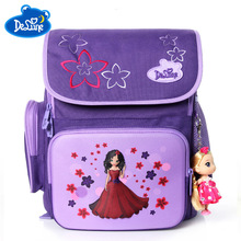Delune Brand Primary Grade 1-3 Kids 3D Cartoon School bags Children Orthopedic Ergonomic Design Backpack Boys Bags